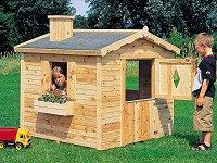 Relativ Spielhaus Holz Kinder Gartenhaus Holzkomplett.de TI14